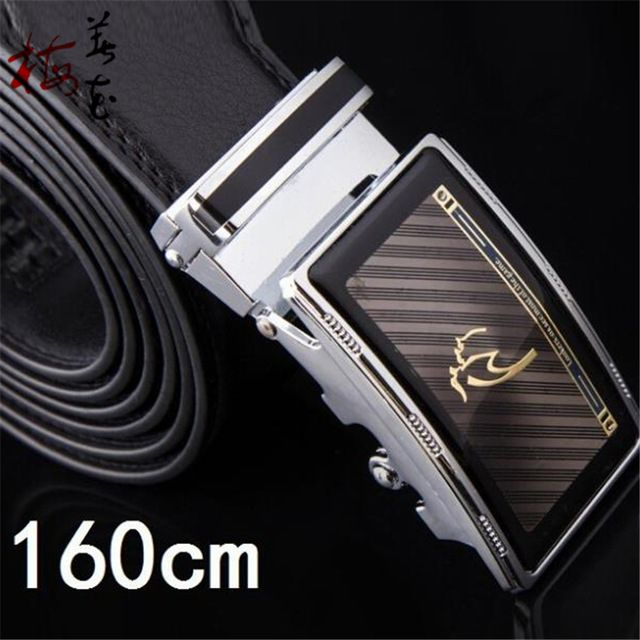 a10cabdd4 160cm Plus Big Size Belt Classic Brand Design Men S Automatic Buckle  Genuine Leather Belts Cinto Masculino Free Shipping