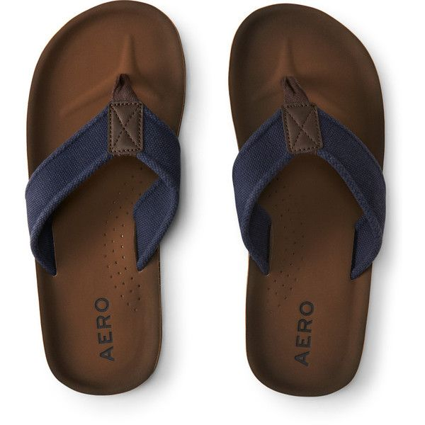 43df22952085 Aeropostale Solid Canvas Flip-Flop ( 21) ❤ liked on Polyvore featuring  men s fashion