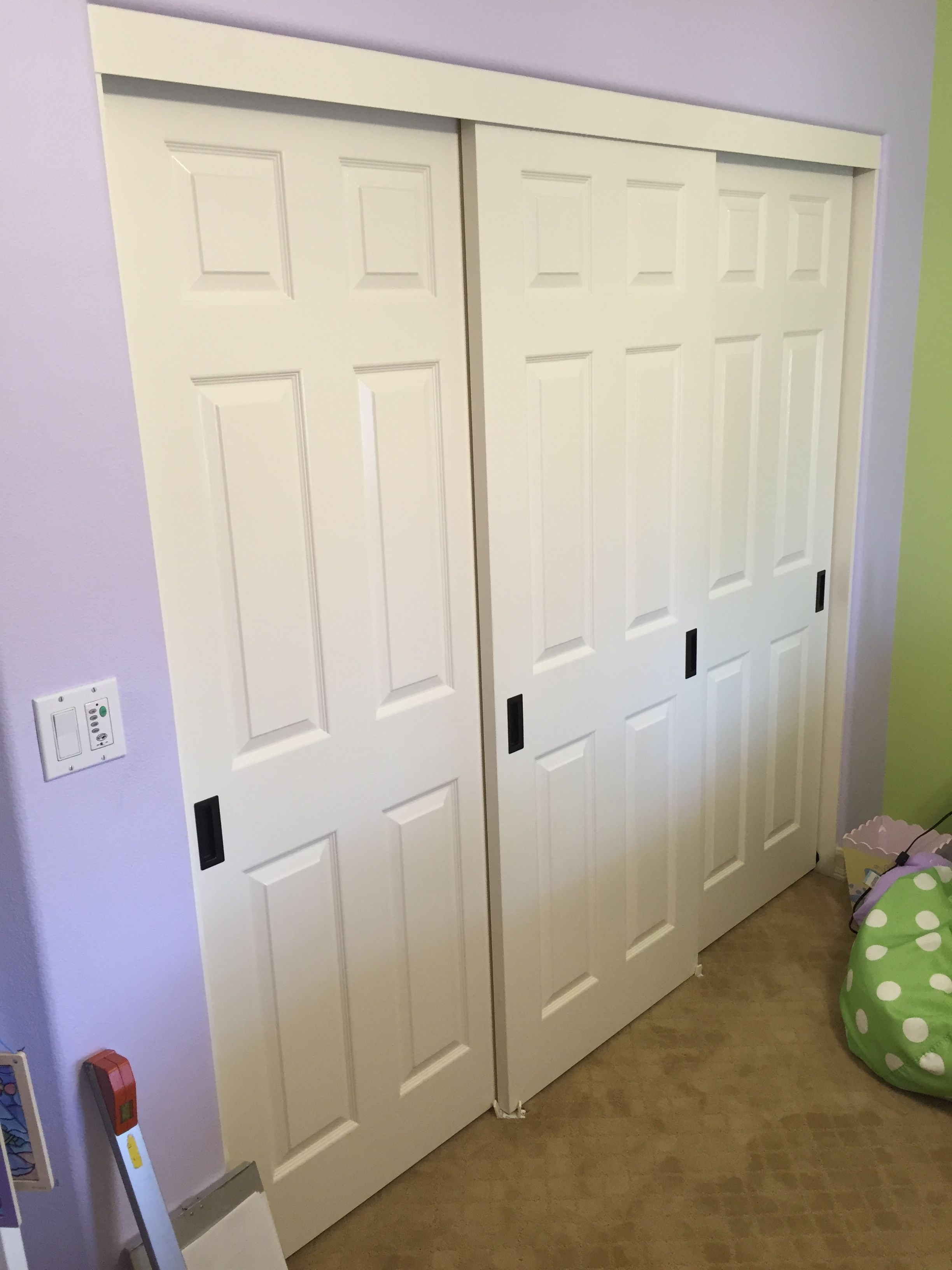 3 Panel 3 Track Hollow Core Sliding Closet Doors. The Style/design Is  Called Colonist Smooth. Are You Looking For Bypass Closet Doors In Laguna  Hills, ...