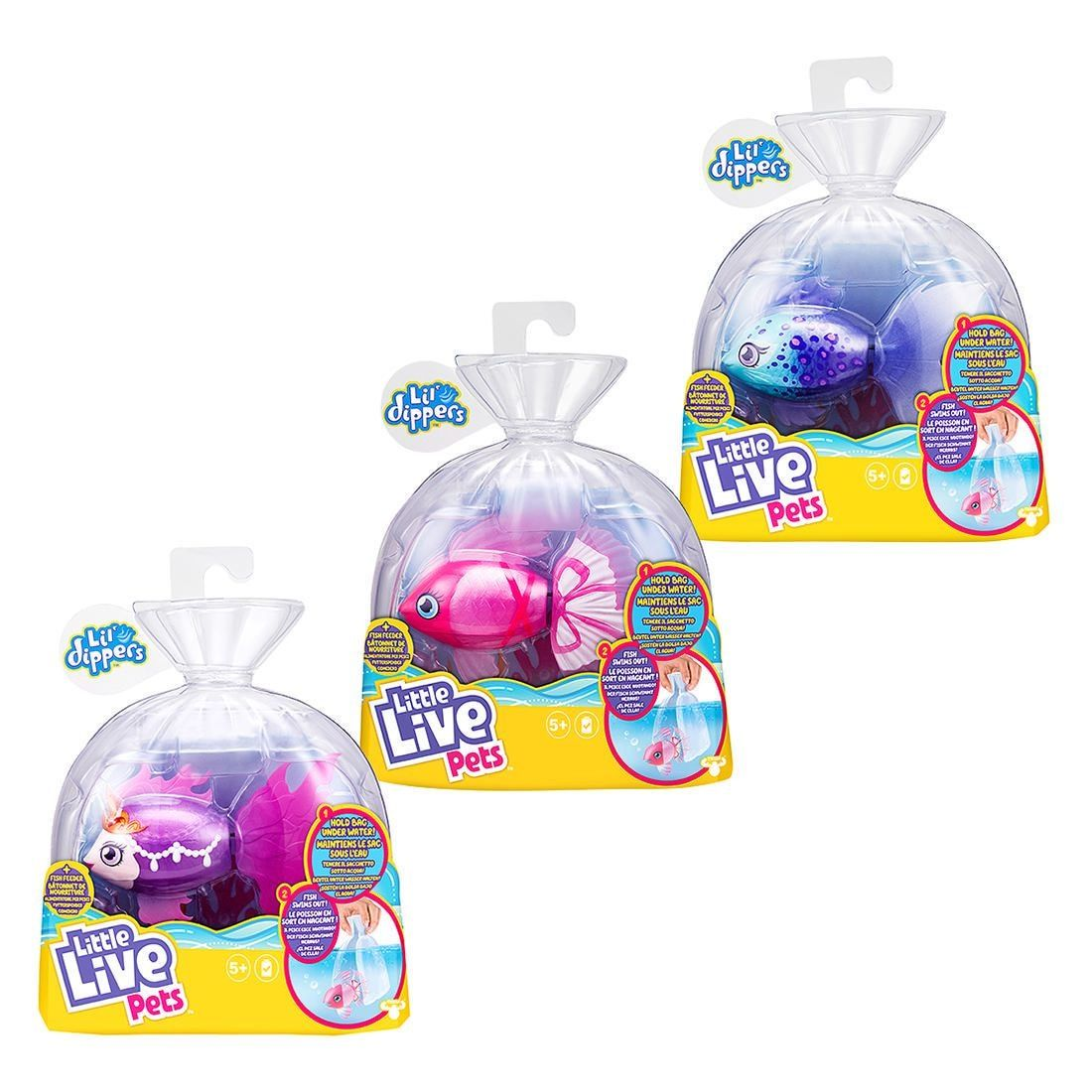 Little Live Pets Lil/' Dippers Fish Single Pack choose from 3