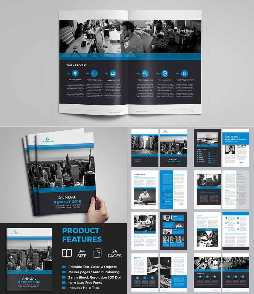 Great Resources For Free Indesign Brochure Templates: 25+ Best Annual Report Templates
