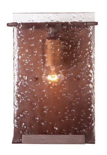 Varaluz 160B01HO Rain Light Bath Light, Hammered Ore Finish with ...