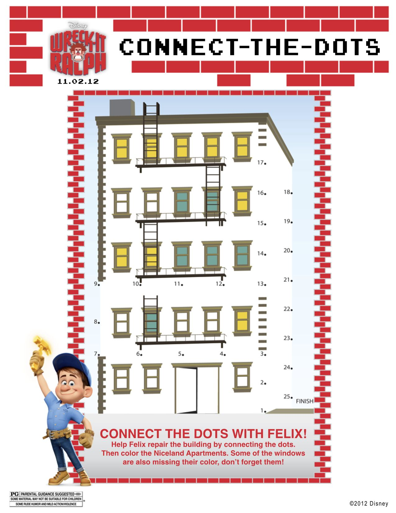 Wreck It Ralph Printable Connect The Dots | Wreck it ralph ...