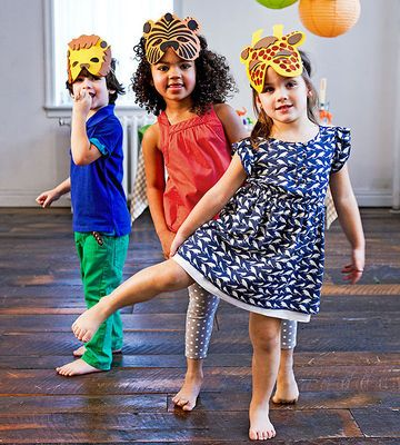 Hand out cute animal masks to each party guest. $6.25 for 12; orientaltrading.com