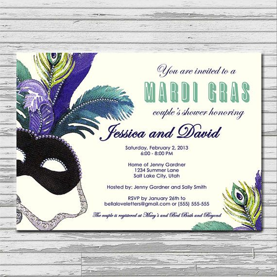 masquerade bridal shower invitation by bellaloveletters on etsy 900
