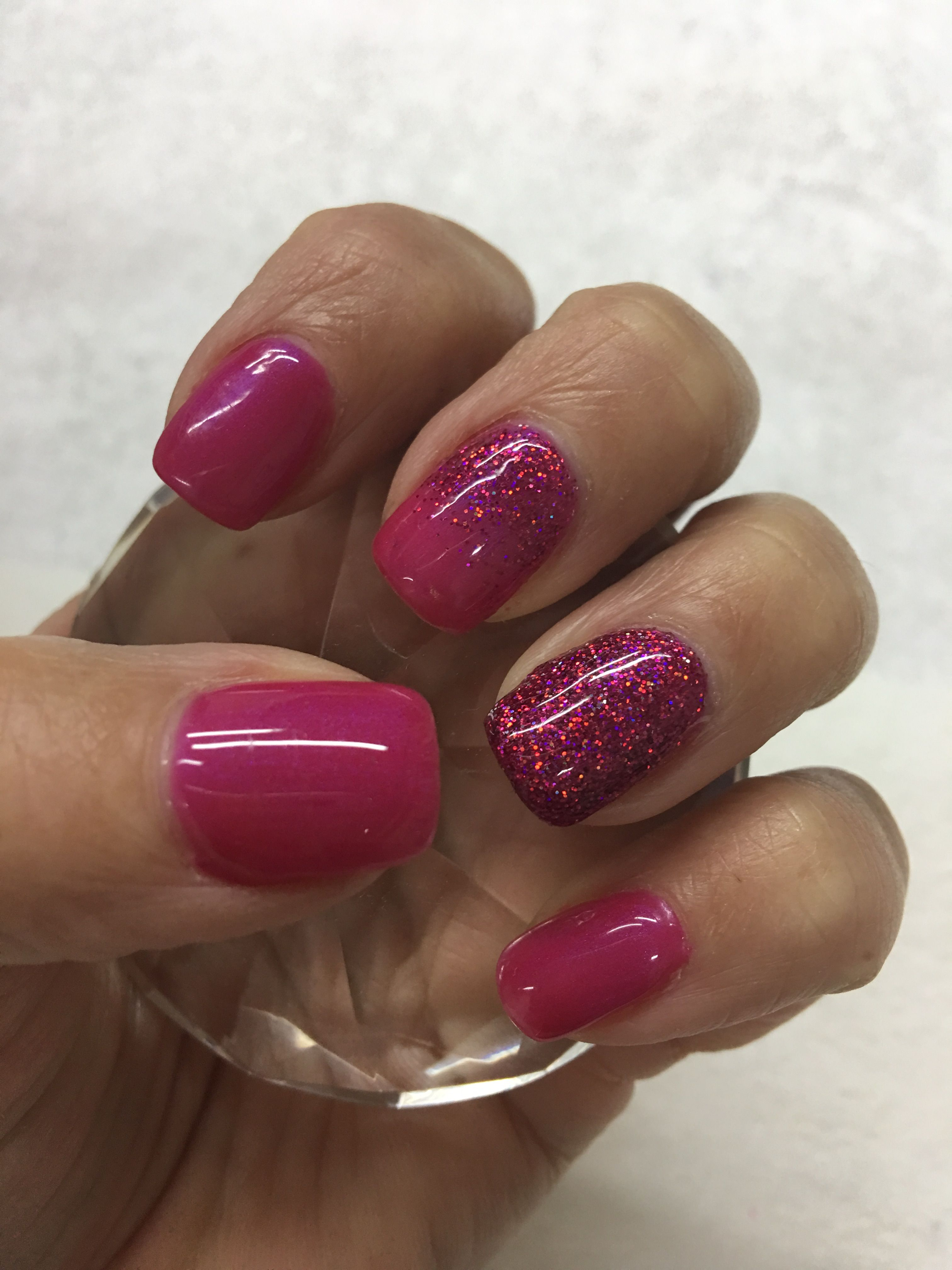OPI Pompeii Purple & Hologram Fuchsia Glitter Gel Nails   Gel Nail ...
