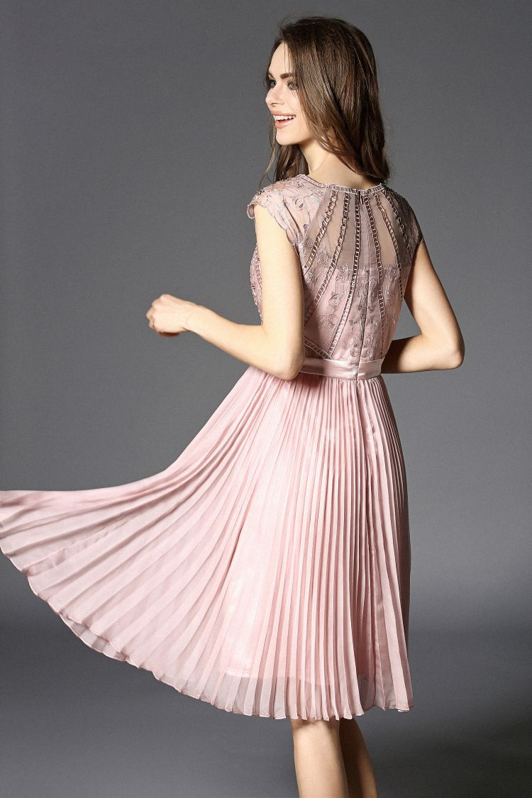 Good quality luxury designer organza embroidery dress for summer