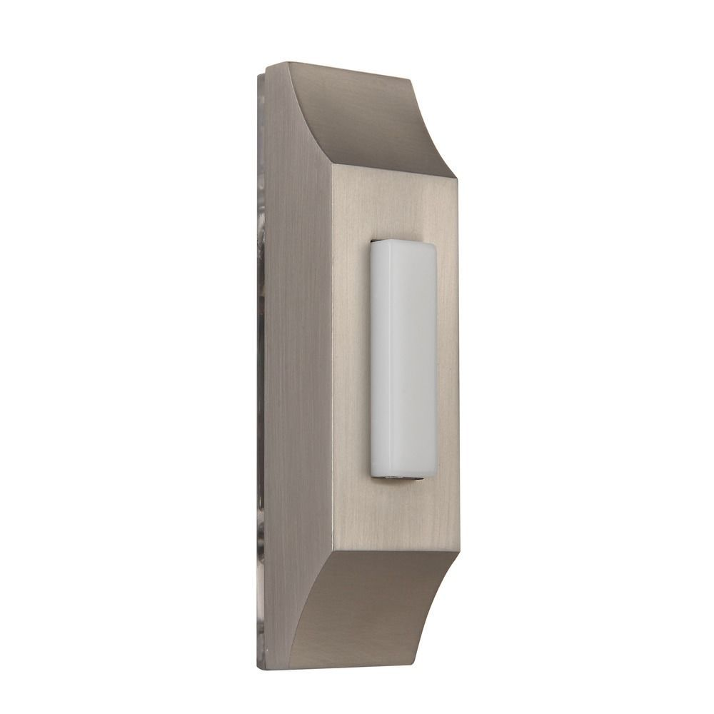 Satin Nickel Led Lighted Doorbell Button Doorbell Button Doorbell Destination Lighting
