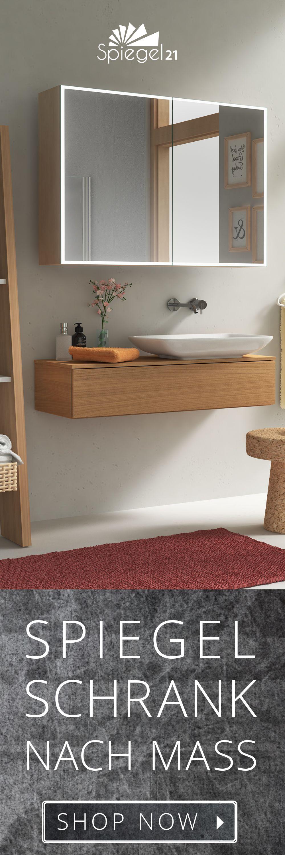 badezimmerschrank mit wäschekippe | spiegelschrank nach maß