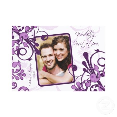 Purple wedding invitations, be my bridesmaid cards, stickers, stamps, and address labels - All are online customizable.    http://www.squidoo.com/purple-themed-wedding