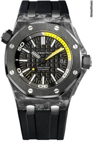 Audemars Piguet Royal Oak Offshore Carbon Diver Mens Watch $22,999 #AudemarsPiguet #watch #watches #chronograph carbon case with rubber bracelet & automatic movement
