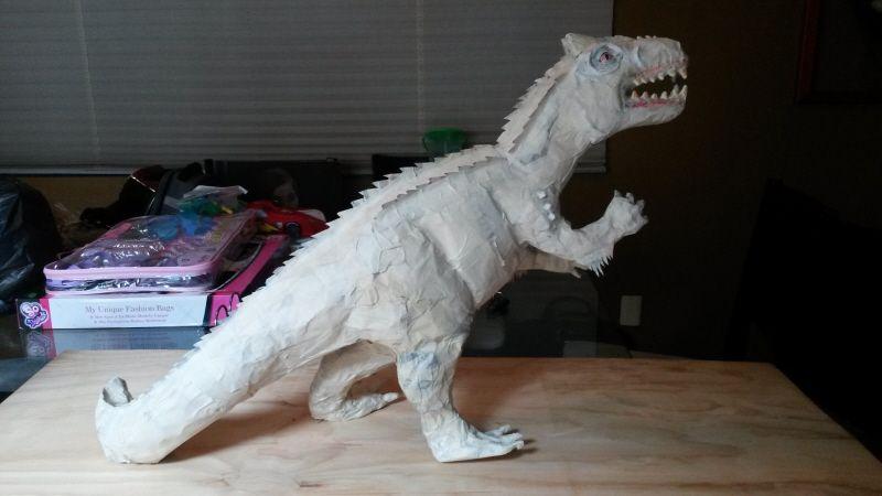 How To Make A Paper Mache Dinosaur Paper Mache Dinosaur Paper Mache Sculpture