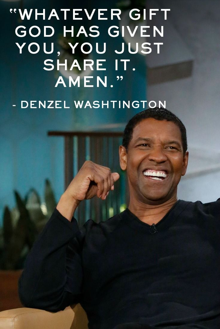 Denzel Washington Quotes Amen Denzel Washington Denzel Shared More Of His Optimism In