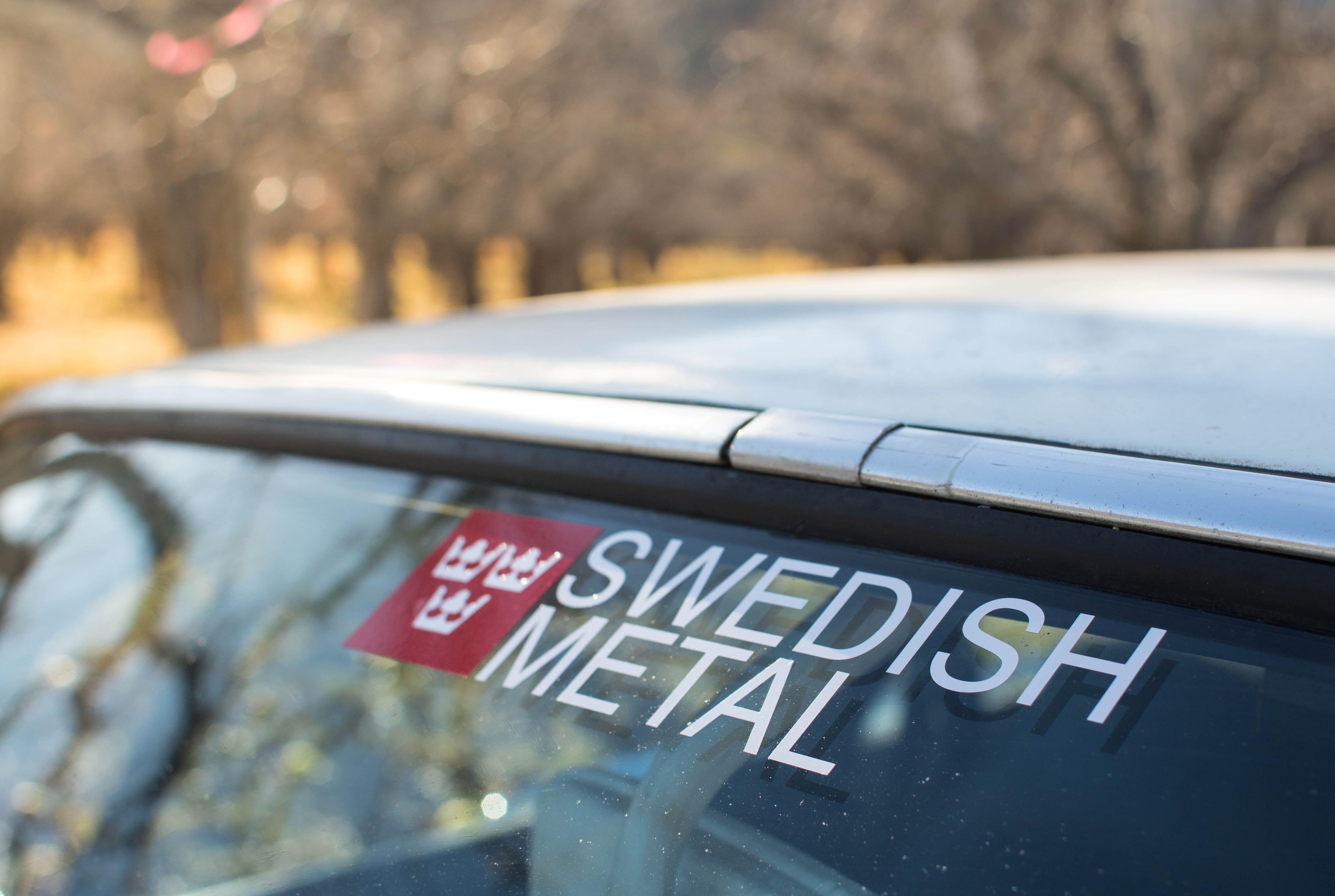 Swedishmetal Trekronor Sticker From Swedish Metal Metal Swedish Stickers [ jpg ]