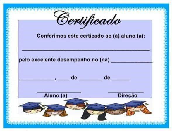 Certificados Diplomas Certificados Aula
