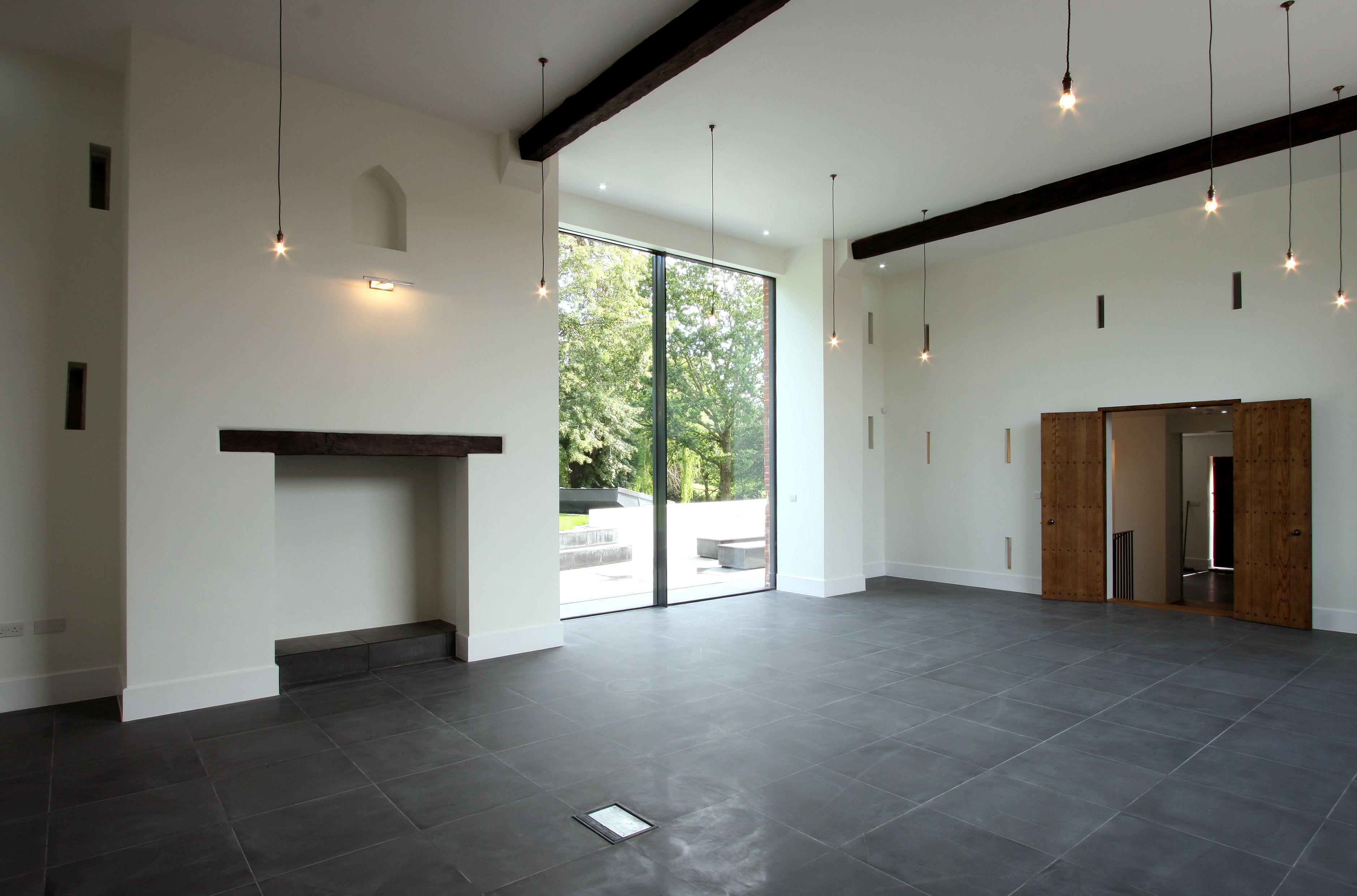 4m high, floor to ceiling height minimal windows
