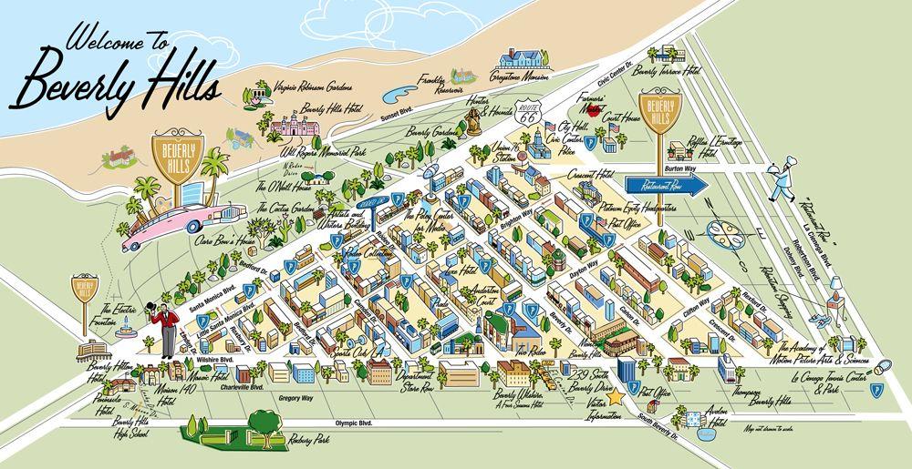 Celebrity Homes Los Angeles Map Los Angeles, Pt. II | Beverly hills celebrity homes, Beverly hills