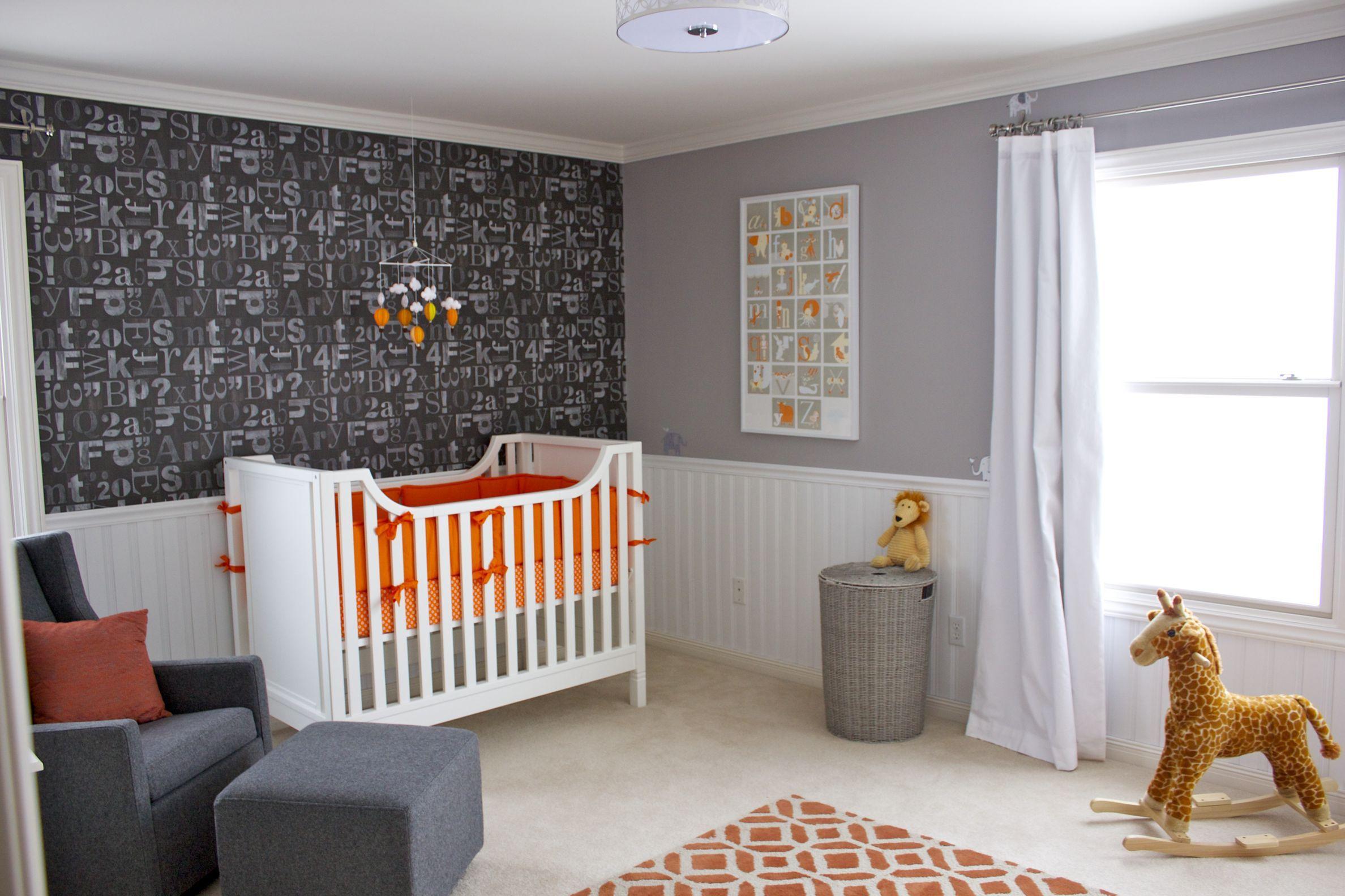 orange gray and white nursery room nursery ideas we love white rh pinterest com