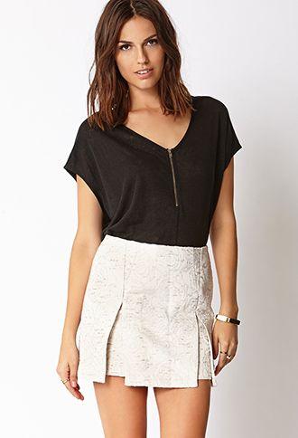 Fancy Brocade Skirt   FOREVER21 - 2000091716
