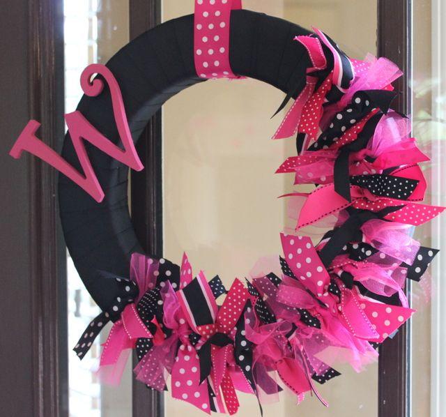 Black And Pink Wedding Ideas: Hot Pink And Black Polka Dots Bridal/Wedding Shower Party