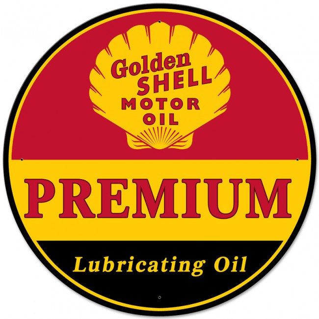 Vintage Replica Tin Metal Sign Shell Lubrication motor oil gasoline gas station