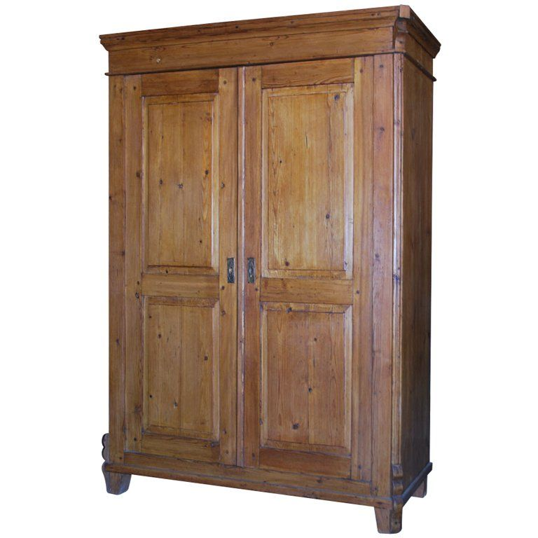 Antique Armoire With Raised Panels
