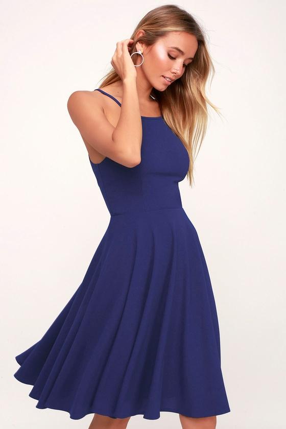 11++ Blue midi dress information