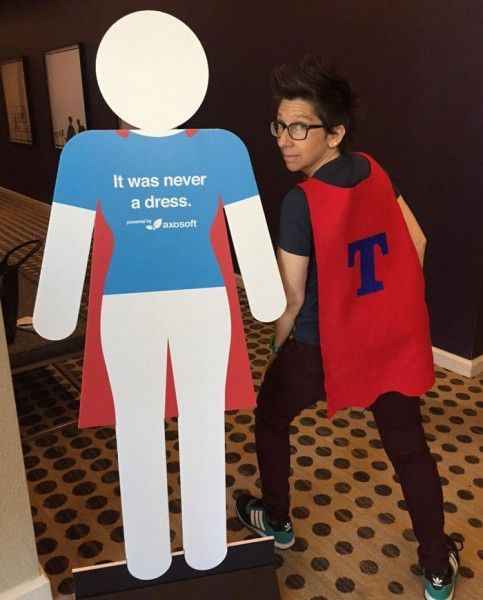 It Was Never A Dress: Women's Bathroom Signs Get A Heroic Makeover