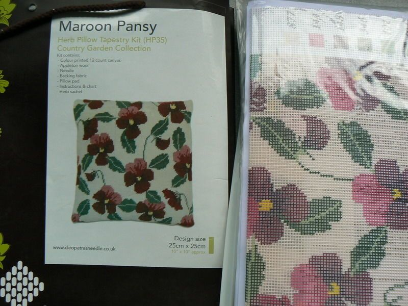 Cleopatras's Needle Tapestry Herb Pillow Kit Maroon Pansy HP35 BAG IS TATTY • £34.95 - PicClick UK