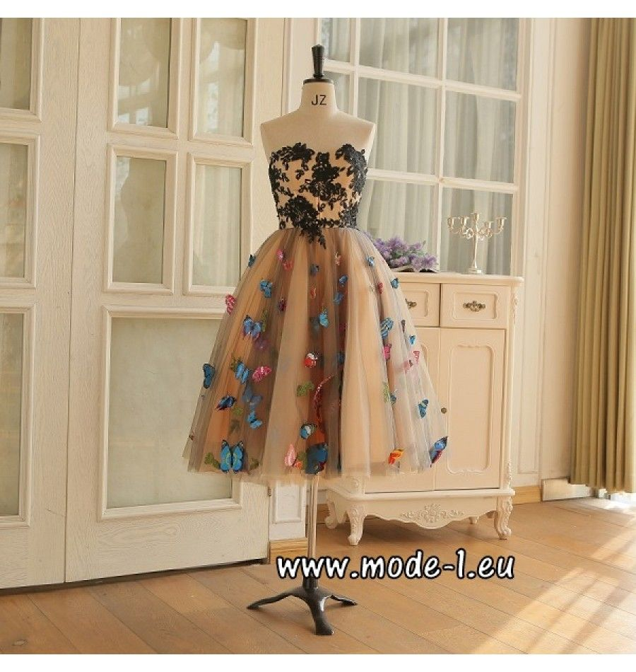 Schmetterlings Cocktailkleid 2018 Knielang | váy này | Pinterest