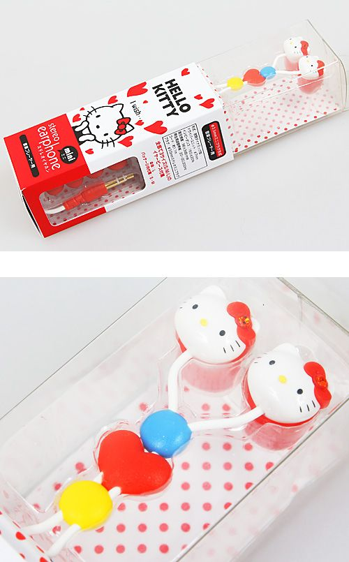 How adorable are these Hello Kitty earphones?