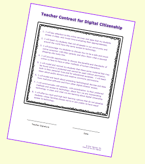 A Free Printable Digital Citizenship Contract For Teachers
