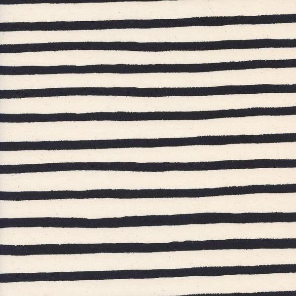 Wonderland, Cheshire Stripe in Unbleached White