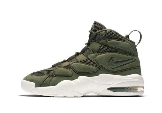 Nike Unisex's Basketball Shoes Air Uptempo X Khaki/White-Baroque Brown