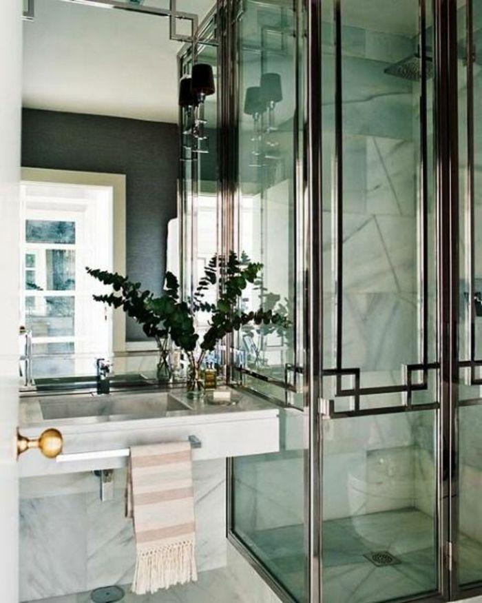 1001 id es captivantes d 39 int rieur art d co recr er chez vous cabines de douche en verre. Black Bedroom Furniture Sets. Home Design Ideas