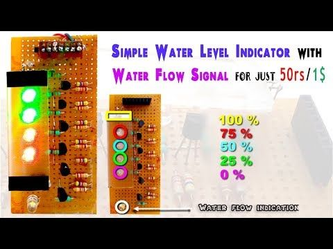 Water Level Indicator Project With Circuit Diagram | Make Water Level Indicator Project With Alarm System At Home By