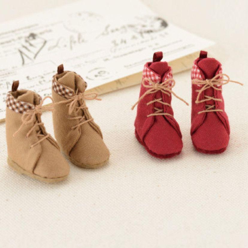 余った布で作る!かわいいミニチュアブーツの作り方(布小物