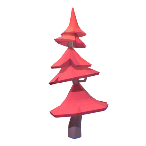 Vegetation - Pine Tree 3D Model - Smashy Craft Series - Free