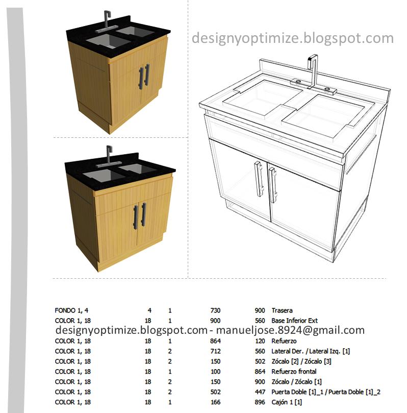 Diseño De Muebles Madera: Mueble para Fregadero, Lavaplatos, en ...