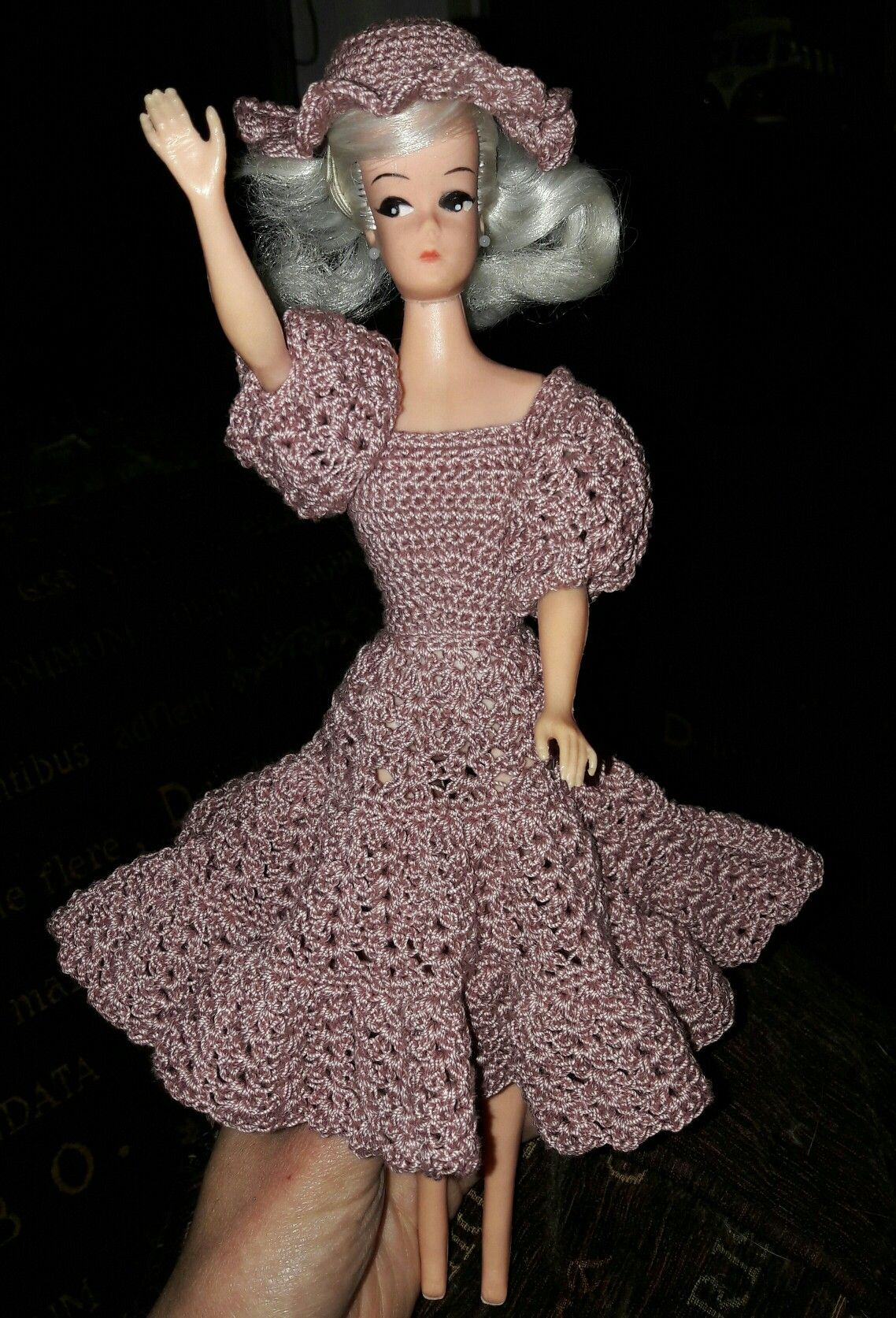 Petra doll from Germany. she belongs to my mother in law. Pattern to be found at www.leisurearts.com