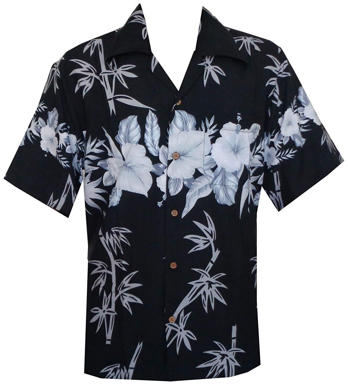 Alvish Hawaiian Shirt Mens Beach Aloha Party Casual Matching Front Pocket