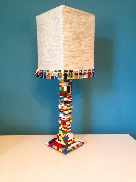 Ikea Hack DIY LEGO Minifigure Lamp | Lego lamp, Lego room