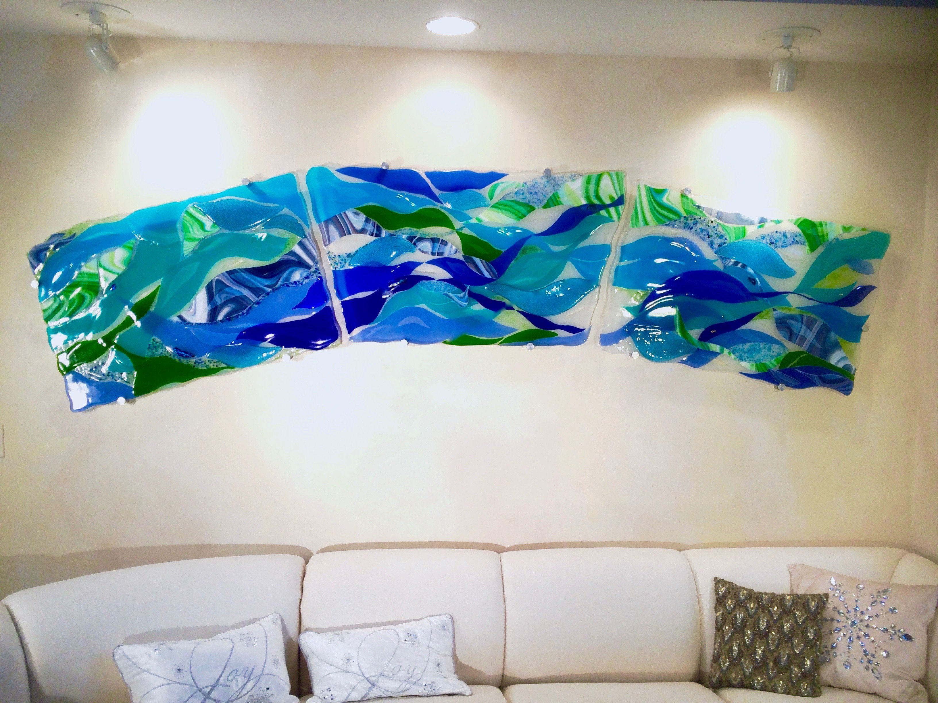 A wall mural created for a doctors home in mendota