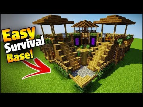 Minecraft 3 Player Ultimate Survival Base Easy Tutorial