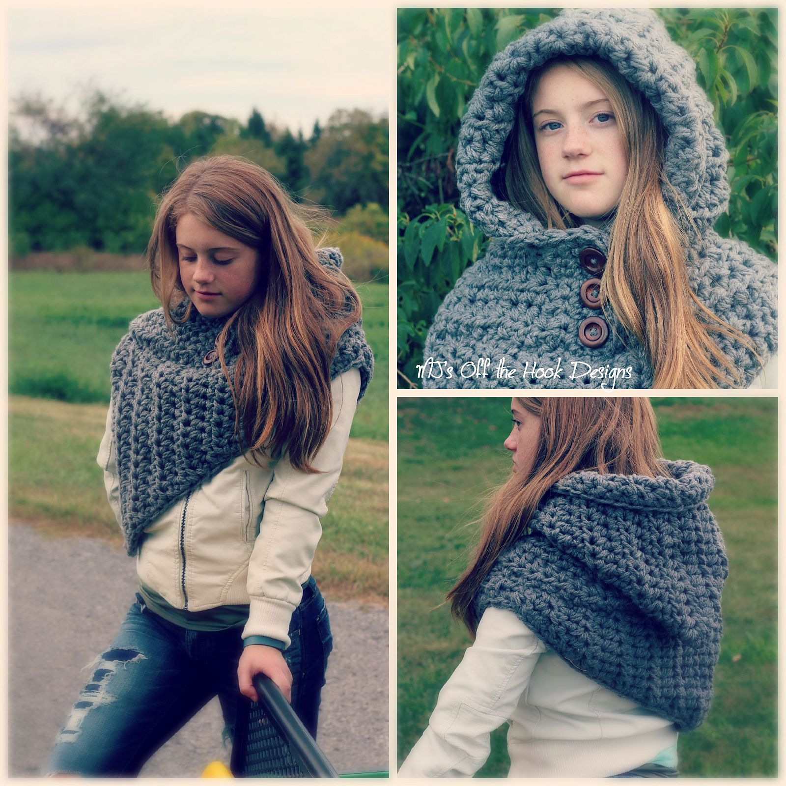 Bulky Hooded Katniss Cowl pattern by MJ\'s Off The Hook Designs ...