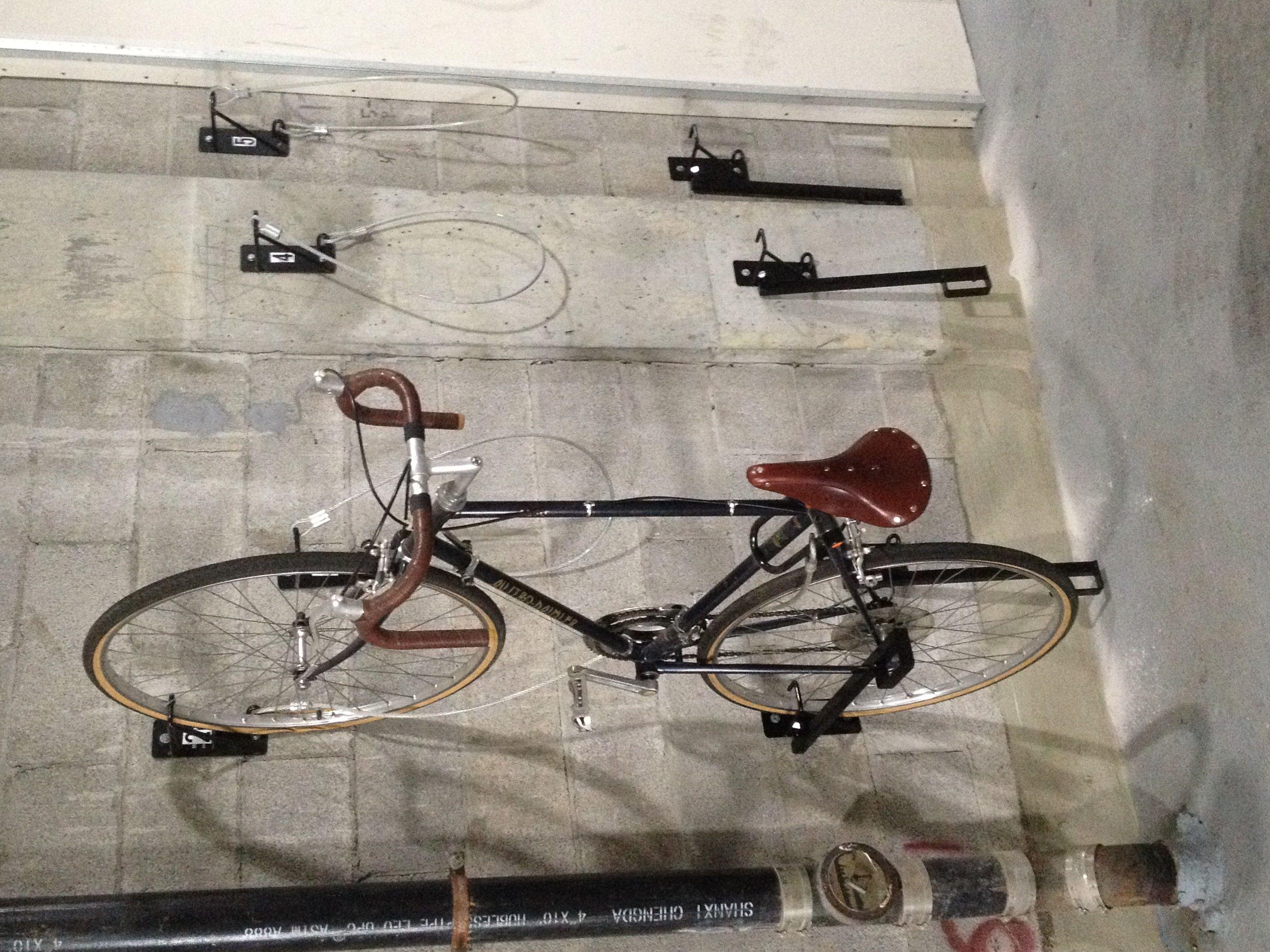 Wall Mount Bike Brackets Anti Theft Chicago All Welded Bike