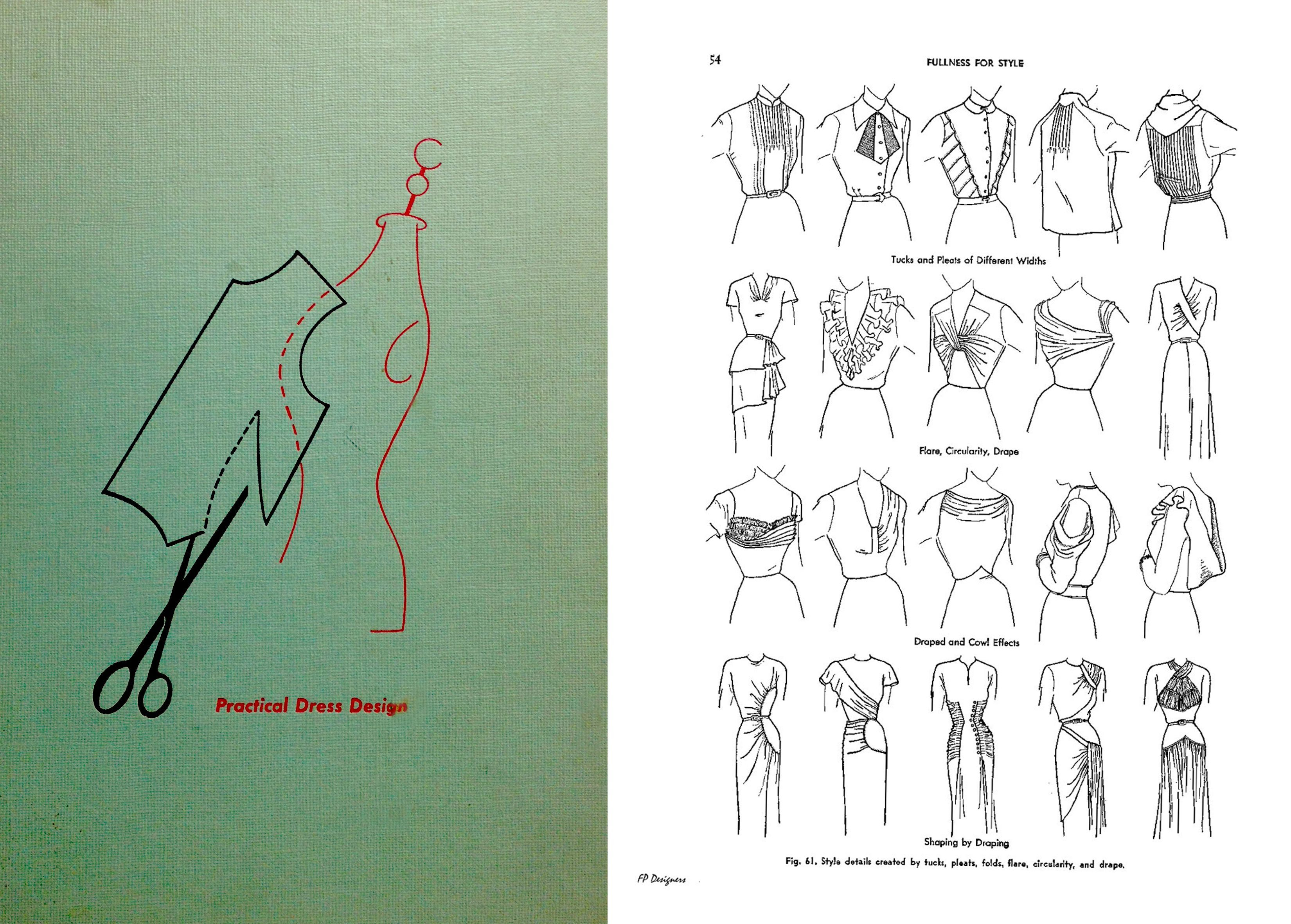 Free Download Practical Dress Design By Mabel D Erwin 1950's Fashion  Sewing Draping Pattern