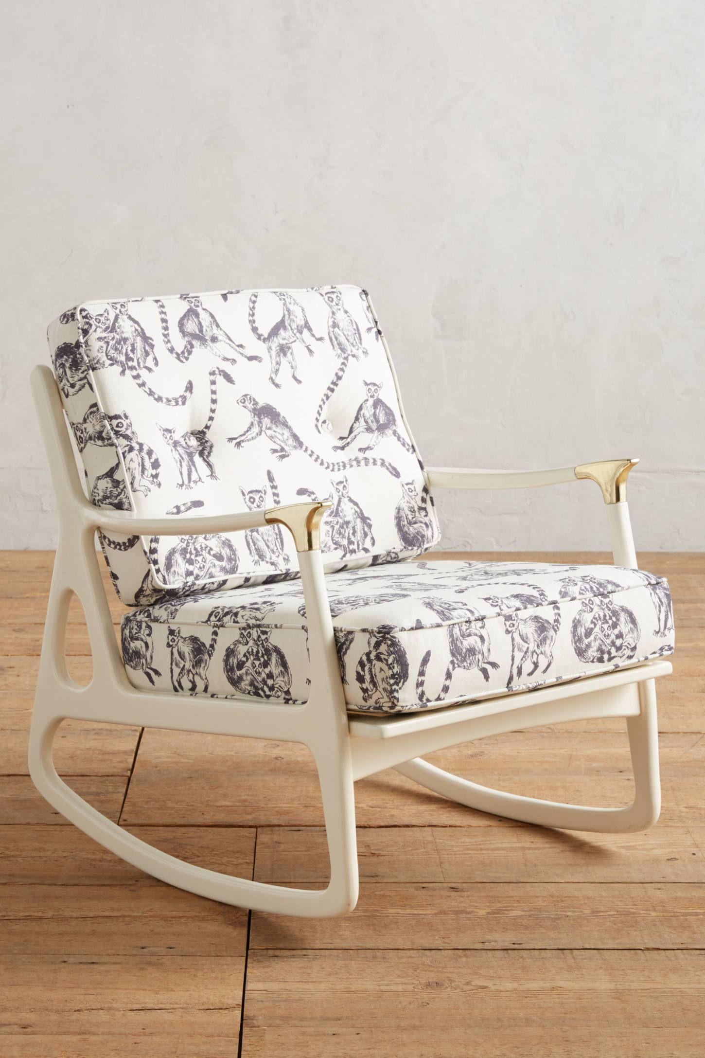 Lemur Printed Haverhill Rocking Chair