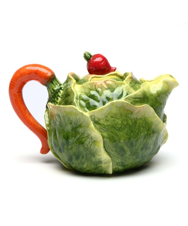 Look at this Cabbage Teapot on #zulily today!