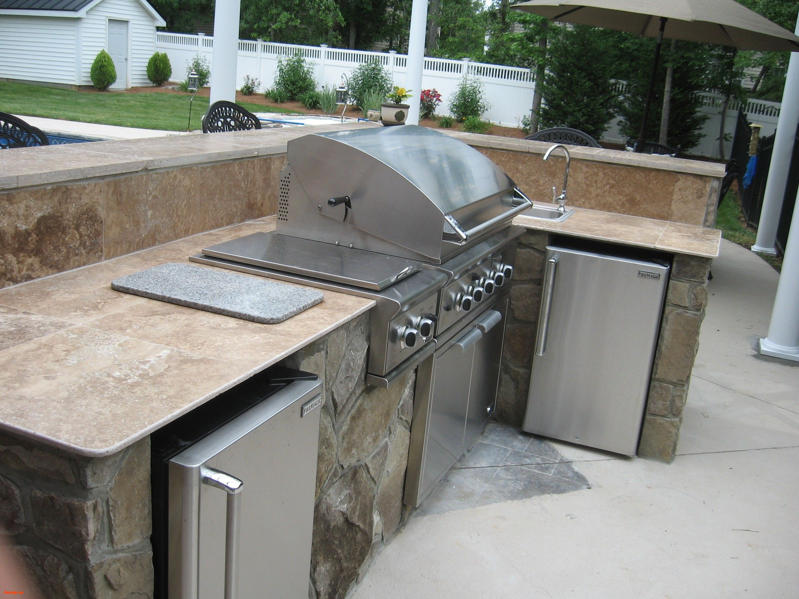 Superior Nice New Outdoor Kitchen , Stone Outdoor Kitchen Charlotte With Travertine  Countertop , Http:/
